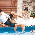 Peter 和怡蓉拍婚紗搞笑