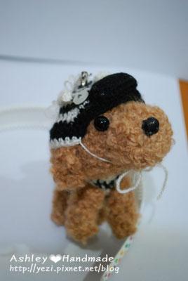 毛線紅貴賓狗狗-斑馬裝