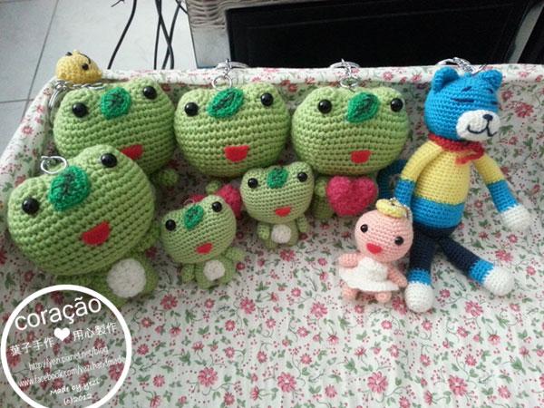 明日蛙+懶貓+天使~毛線娃娃