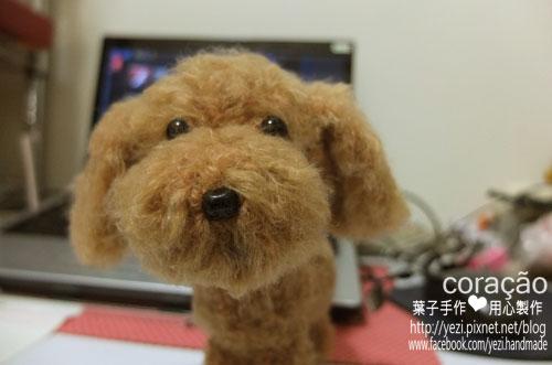 毛線娃娃~紅貴賓犬