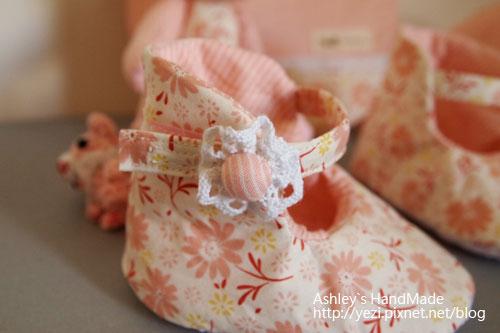 嬰兒鞋-花扣子