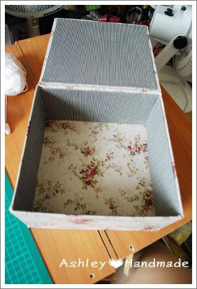玫瑰花布盒