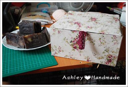 玫瑰花布盒+肥皂