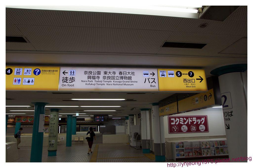 近鐵電車-奈良車站指標.jpg