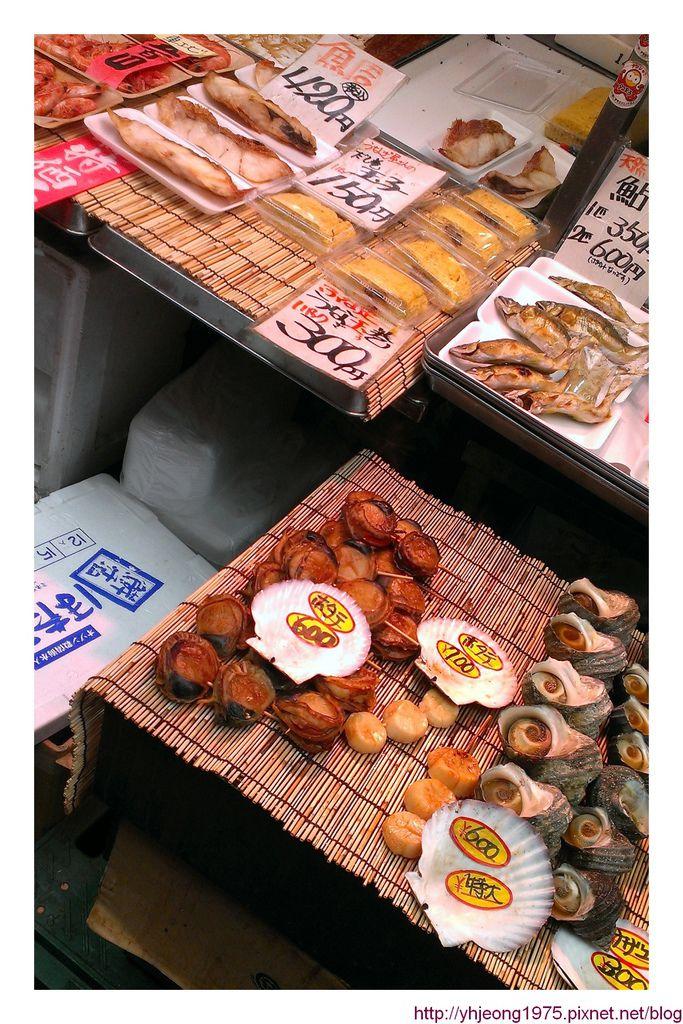 黑門市場-清蒸海鮮串價位.jpg