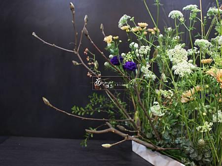 ‖生態樂園‖ 野趣的芒草 輕盈的蕾絲 伸出的木蘭枝 ...... 所有的植物高低錯落有致 宛若一个自然的生態樂園 -------------------------