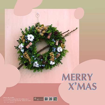 ∥MERRY CHRISMAS∥ 感受到歡愉的過節氣氛, 信手拈來的聖誕小花圈, 花雅集祝大家聖誕節快樂! -------------------------- 延伸美學