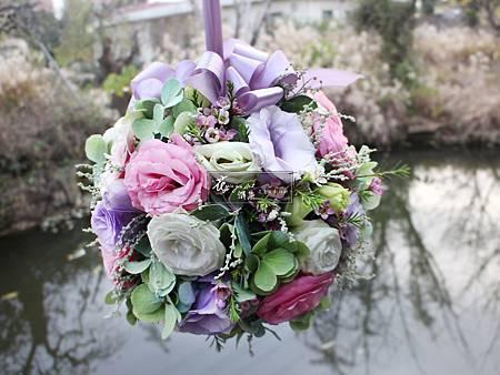 ‖圓滿‖ 圓圓滿滿,是我對您的祝願 藏在這唯美的花球裡 願您永遠幸福快樂 -------------------------- Designer|花雅集學員: