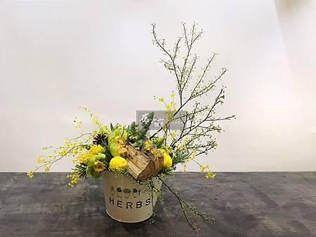 ‖區域焦點‖ 紅黃花采間綠葉襯雅緻 枯木呈自然松果落其中 微風一吹過 文心翠珠又搖頭 美麗的大自然 是心靈的故鄉 --------------------- Design