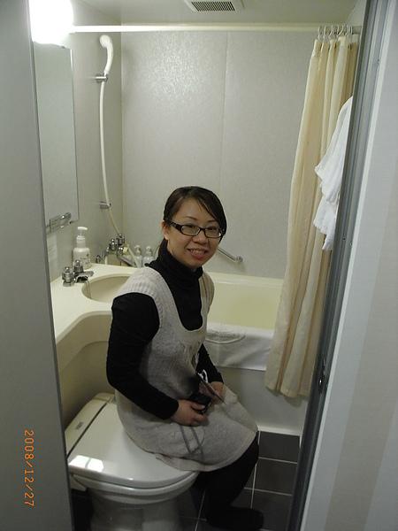 浴室小小的