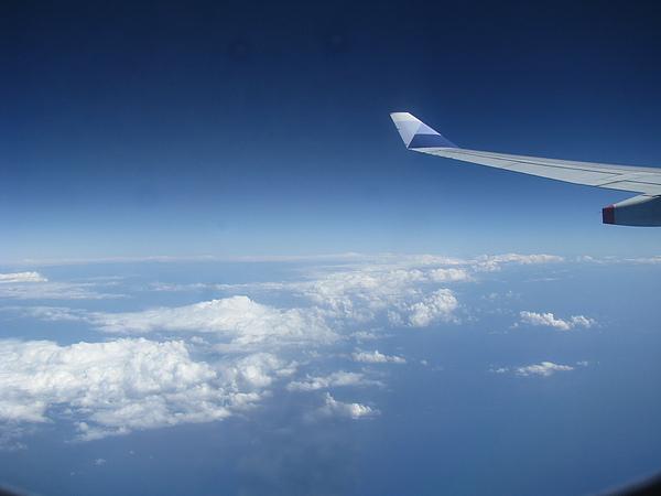 這是我第一次搭回程班機天還這麼亮的~