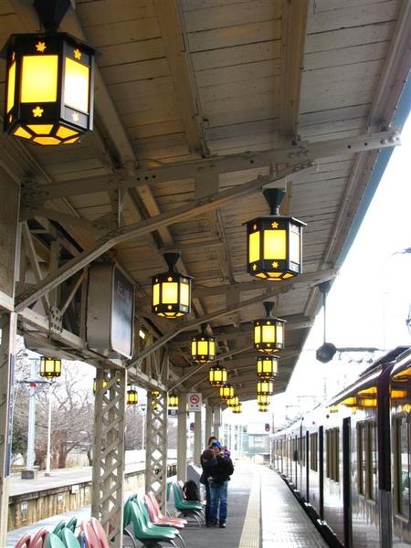 阪急的車站有種古色古香的感覺
