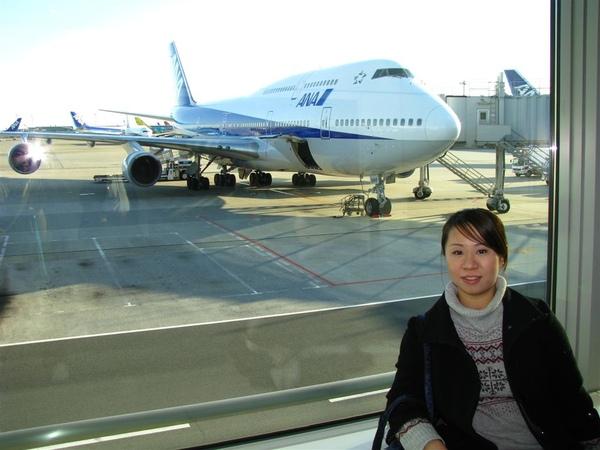 跟ANA飛機合照