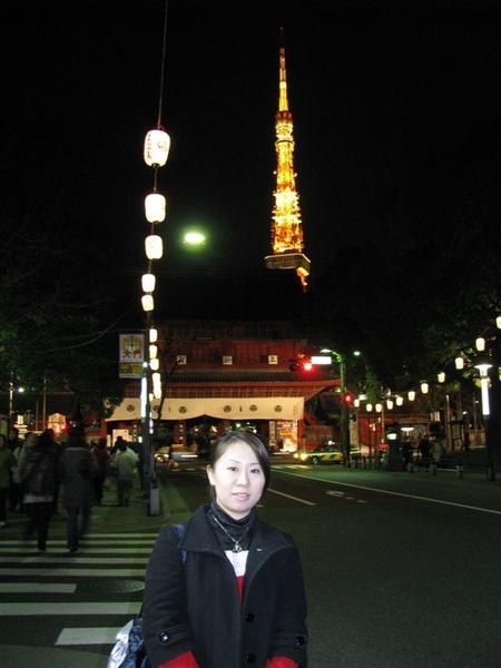 我, 增上寺, 東京鐵塔