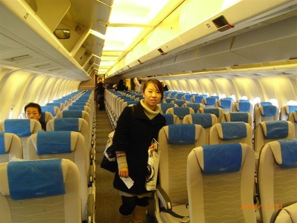 ANA國內線飛機上