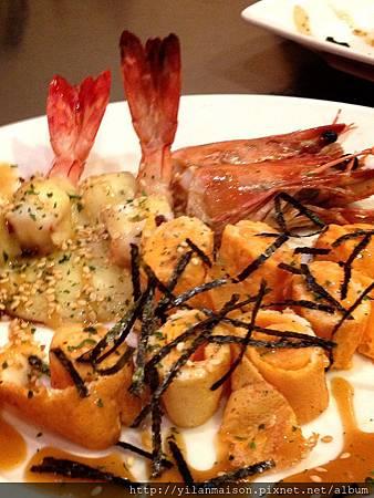 20130615真愛鐵板燒焗大蝦+蝦蛋捲