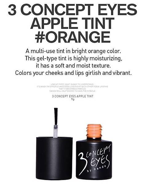 3ce Apple Tint #orange RM75
