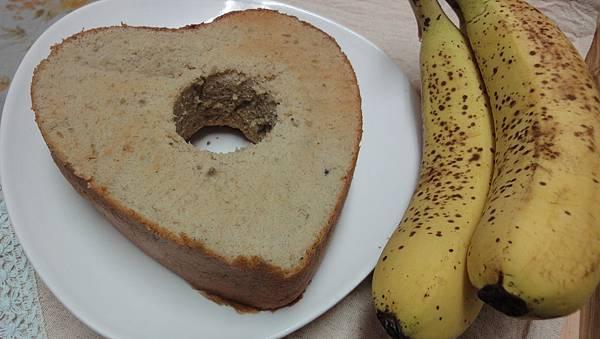 [台所]無油香蕉戚風