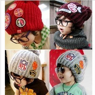 韓版時尚貼標毛帽-親子適用版2@199.jpg