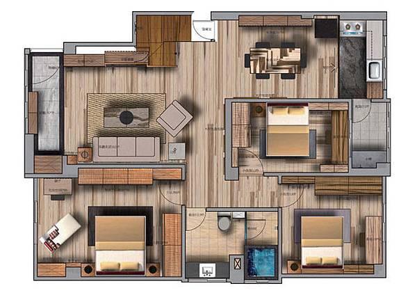 4、客人房間  應該儘量和主人的房間保持距離