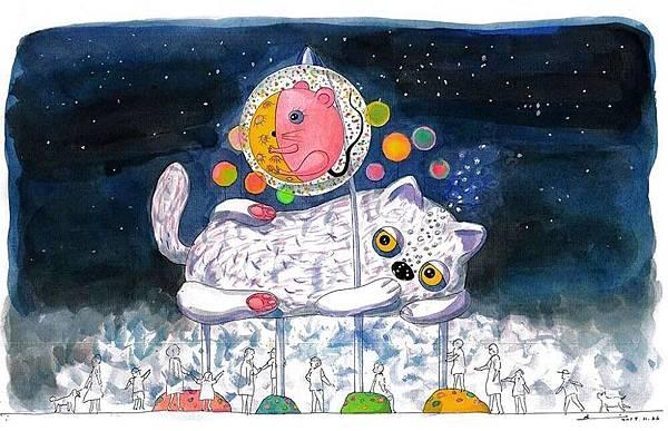 西區主燈「躲貓貓」有別於往年以生肖為主的形式,以童話般可愛造型,增添歡樂的藝術氣息,尤其主燈作品下方更可讓民眾進入,感受光霧交織的空間體驗。-e1578990342539