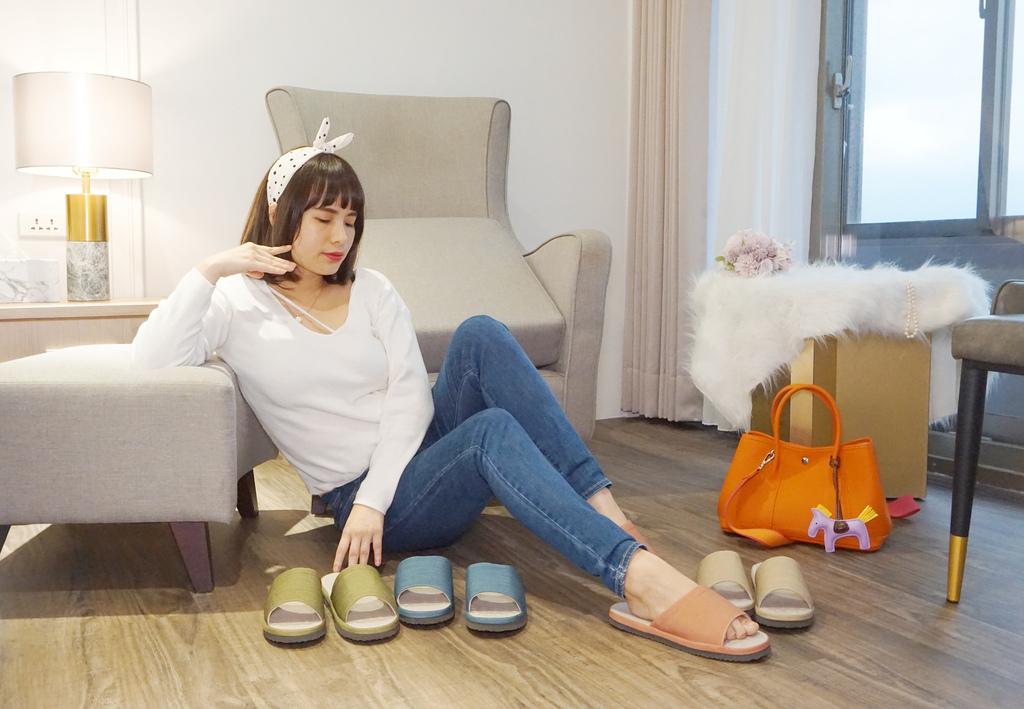 維諾妮卡 冰咖啡紗舒壓乳膠室內拖鞋