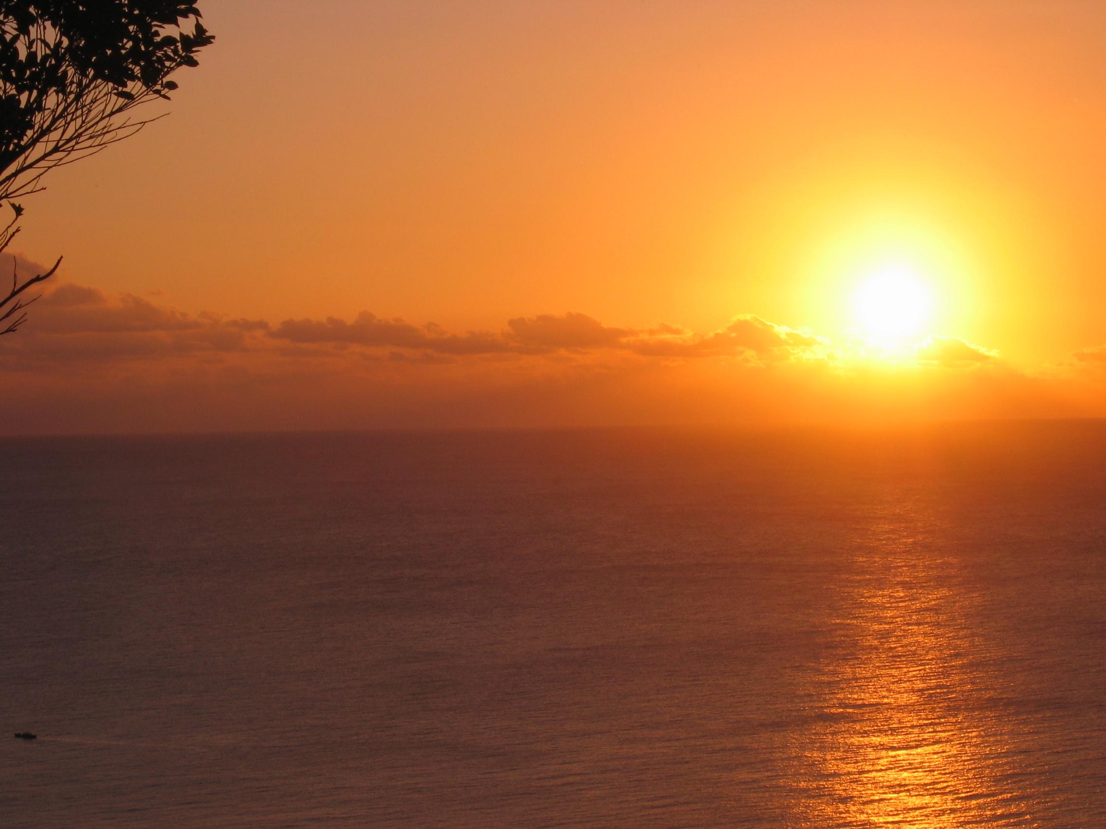 關山超美夕陽