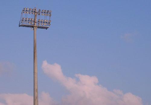 天母棒球場燈柱