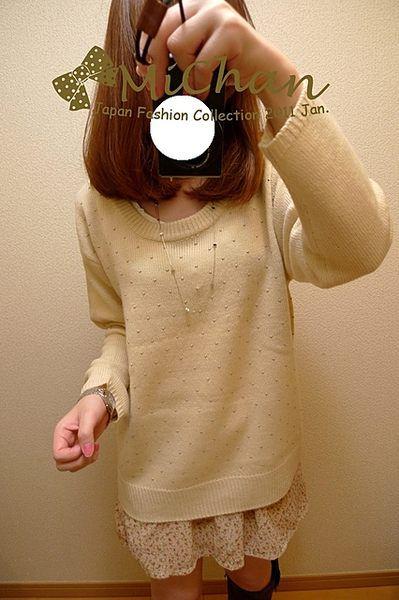 現貨商品【F177】品牌超值折扣小銀串珠針織上衣 -1.jpg