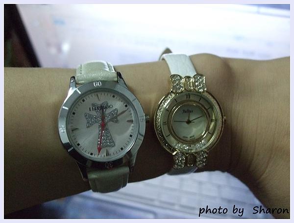 韓國左岸記事特色金屬鑽飾蝴蝶結典雅感滑動水鑽亮面壓紋圓錶-6.JPG