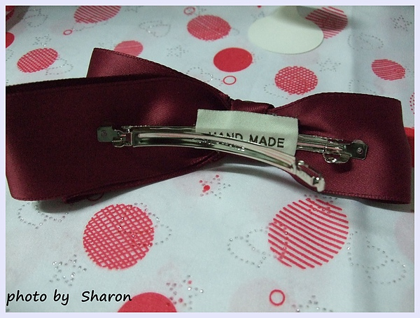 韓國甜感軍風皇家感特色鉚釘小扣造型不對稱緞帶蝴蝶結造型大髮夾-3.JPG