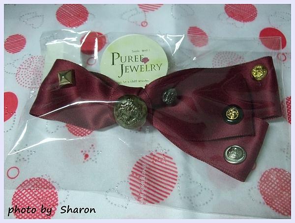 韓國甜感軍風皇家感特色鉚釘小扣造型不對稱緞帶蝴蝶結造型大髮夾-2.JPG