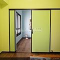 小孩房-隔間鋁框門-咖啡框-落地-太平150422-3