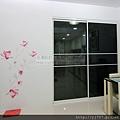 餐廳-隔間-黑玻-白框-落地-北投-141230-2