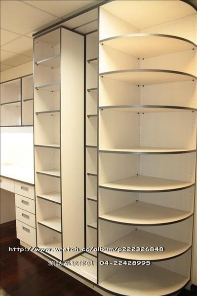 兒童房雙層推拉書櫃0153