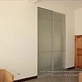鋁框全噴砂玻璃門0118