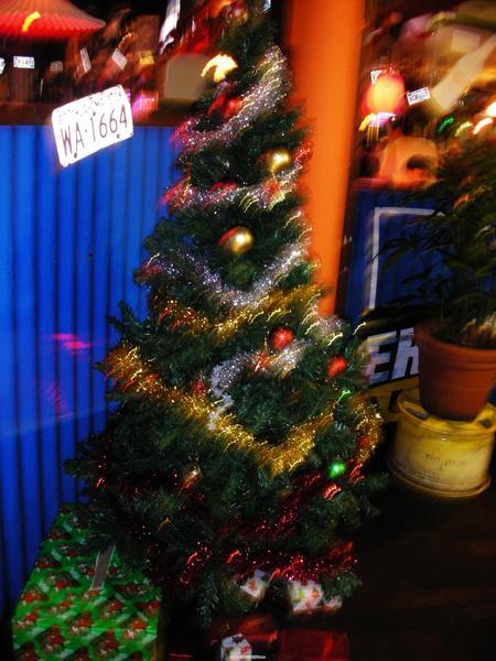 店內的聖誕樹