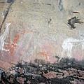紀錄獵捕袋鼠的過程壁畫
