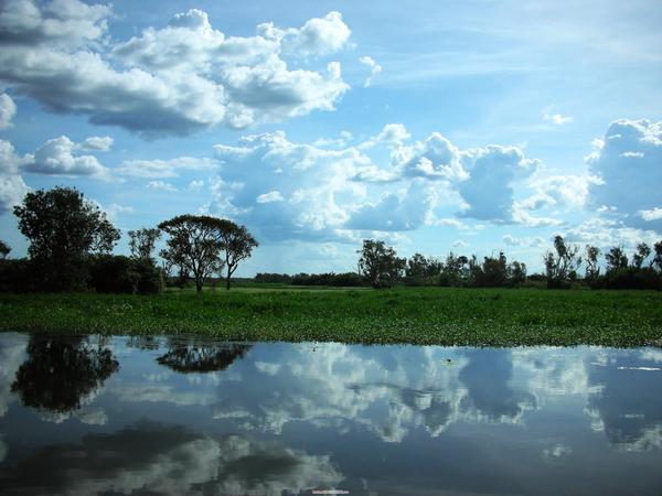 黃水區的雲河倒影
