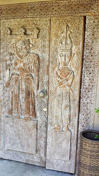 door of villa in Blue Karma in Seminyak