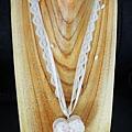 蕾絲緞帶墜珠項鍊