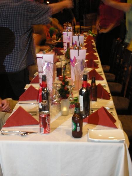 濃濃聖誕氣氛的餐桌擺設