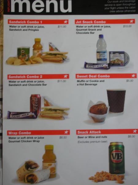 捷星menu