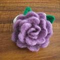 羊毛氈紫玫瑰