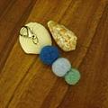 羊毛氈藍色系丸子吊飾