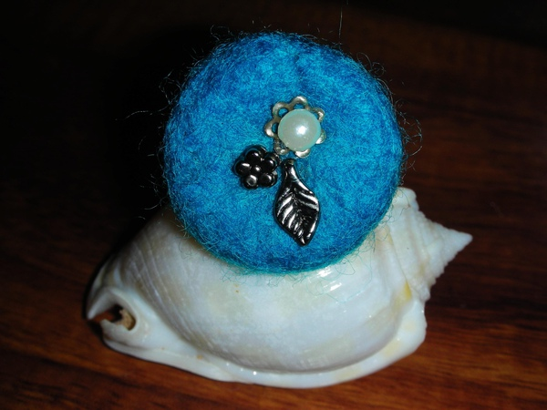 土耳其藍墜飾戒指
