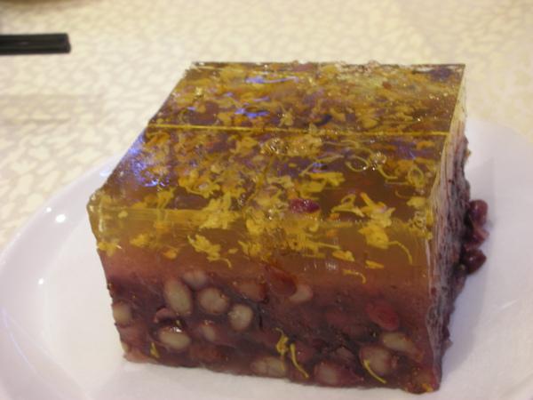 驚豔的桂花紅豆糕