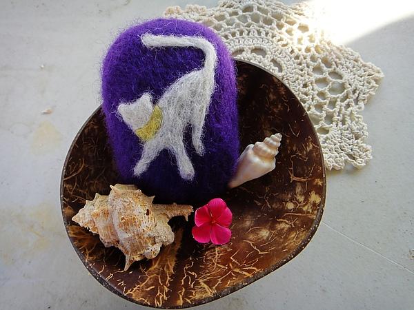 羊毛氈香皂 貓