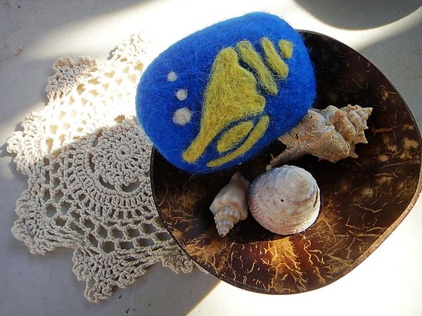 羊毛氈香皂 海螺