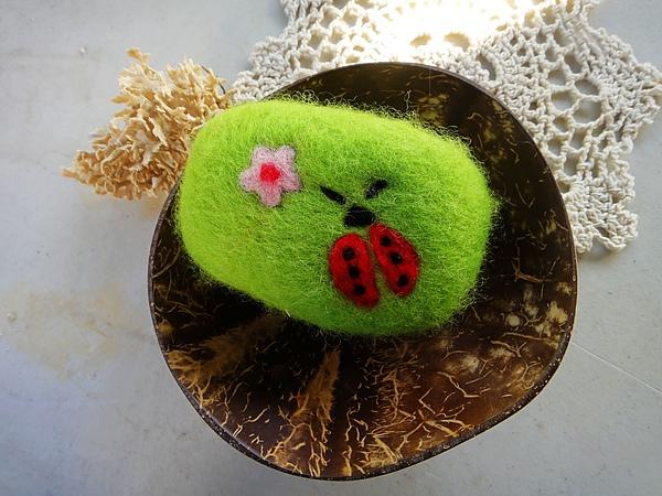 羊毛氈香皂 瓢蟲